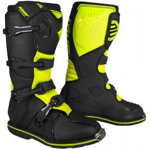 Čižmy na motocykel Shot X10 2.0 čierno-fluo žlté