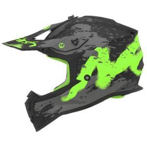 Detská motokrosová prilba NOX N632K Trash čierno-šedo-zelená
