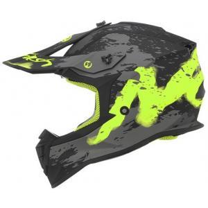 Detská motokrosová prilba NOX N632K Trash čierno-šedo-žltá