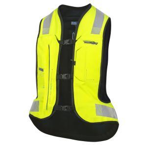 Elektronická airbagová vesta HELITE e-Turtle fluo žltá