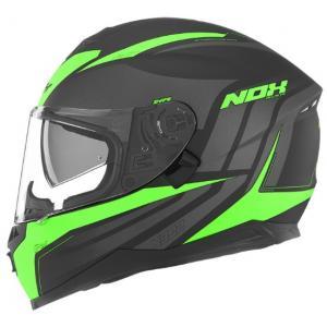 Integrálna prilba na motocykel NOX N302 Shape čierno-zelená
