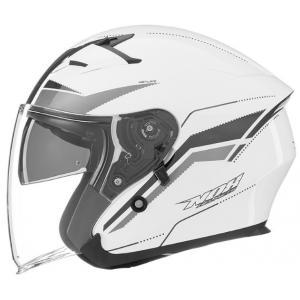 Otvorená prilba na motocykel NOX N127 Late biela