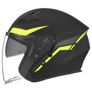 Otvorená prilba na motocykel NOX N127 Late čierno-žltá