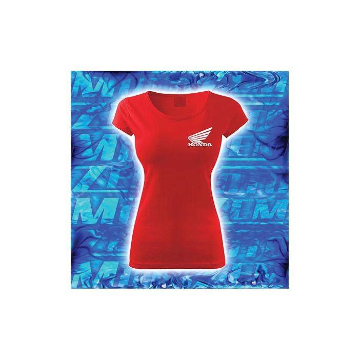 Dámske tričko s motívom Honda červené