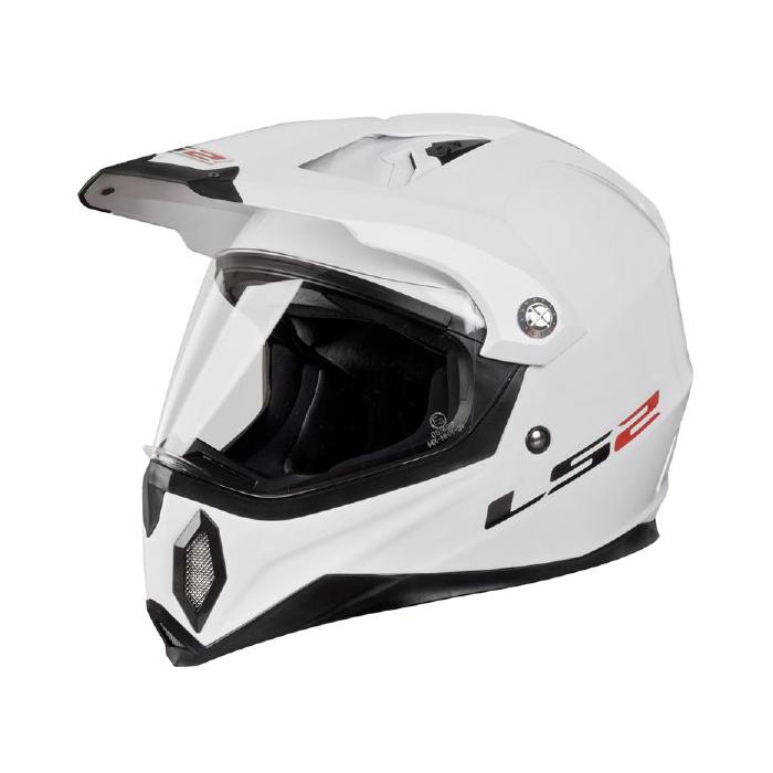 Enduro prilba LS2 MX453 GEARS biela