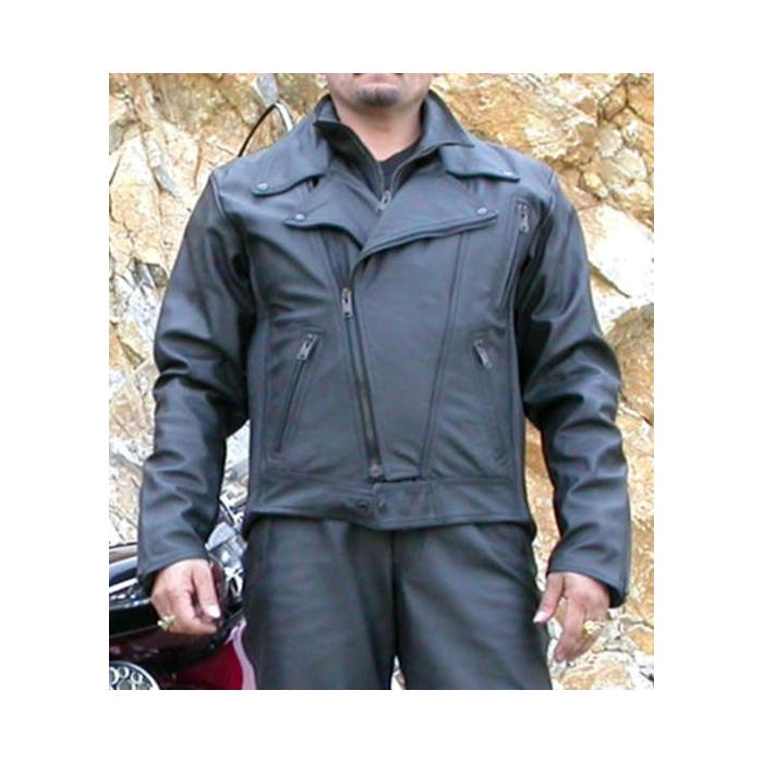 Kožená bunda na moto chopper F-K2 pánská