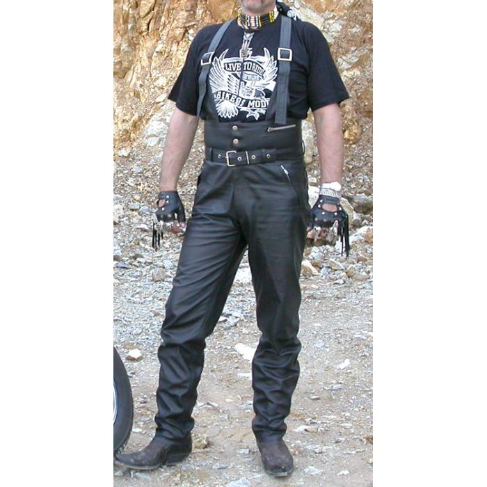 Kožené moto kalhoty KPŠ