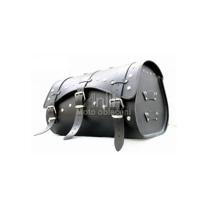 Kožený moto kufr na motorku Chopper RSA-9B - délka 48