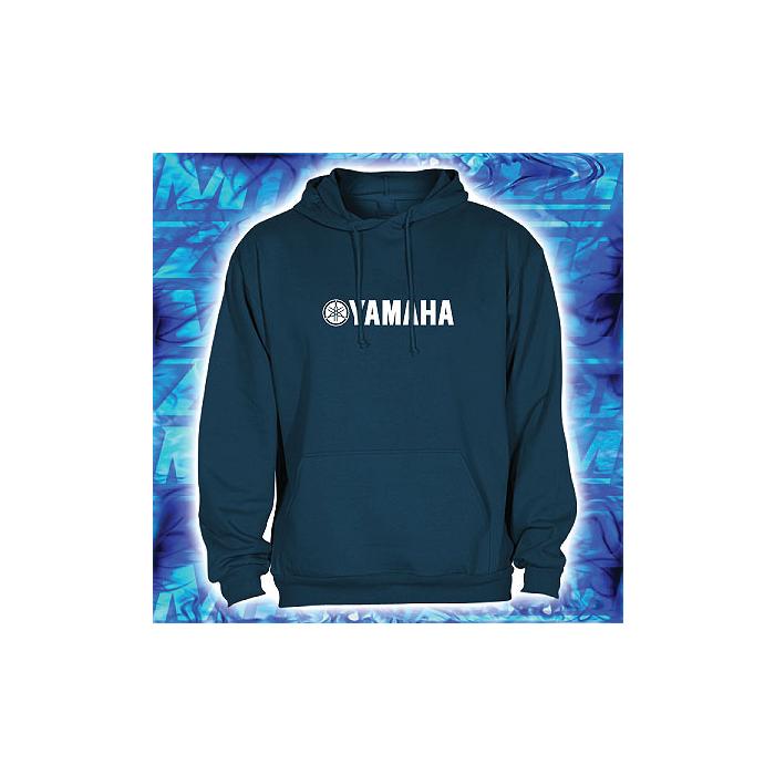 Mikina s motívom Yamaha s kapucňou Navy vypredaj výpredaj