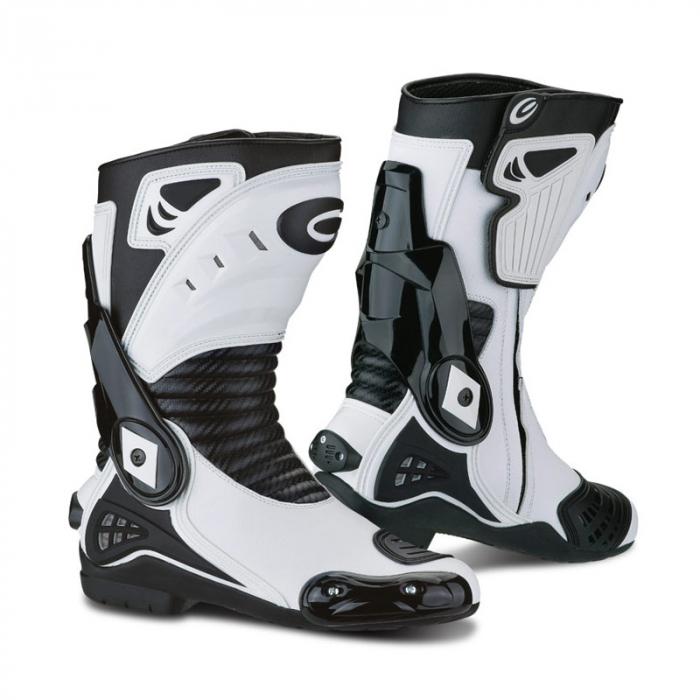Moto topánky Exustar 201 biele vypredaj výpredaj