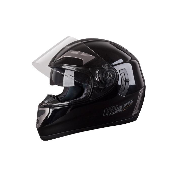 Moto helma LS2 Combat mono černá - vel. XXL