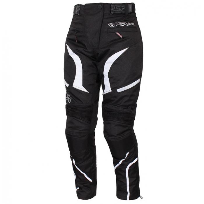 Moto nohavice RSA Devil dámske biele