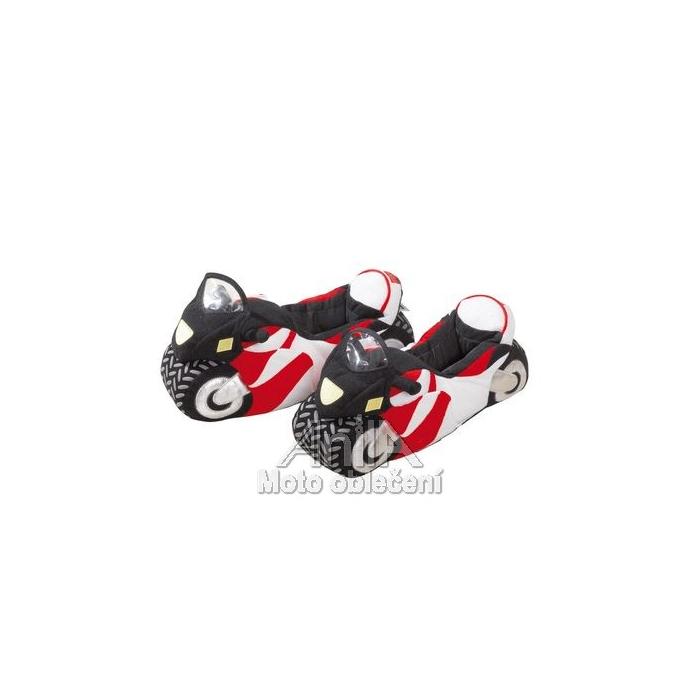 Moto papuče v štýle športové motorky