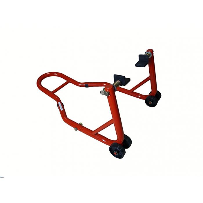 Moto stojan zadní s kolečkama - červený