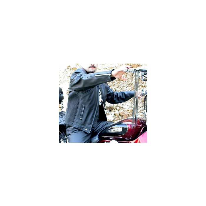 Motorkářská kožená chopper bunda F-N- pánská