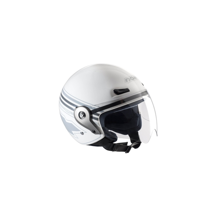 Přilba na moto otevřená Nox N606 bílá - vel. XL