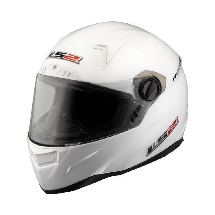 Prilba na motorku LS2 FT2 Single Mono biela vypredaj výpredaj