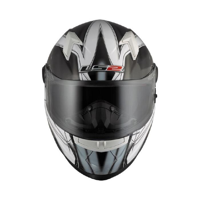 Prilba na motorku LS2 Supra čierno biela vypredaj výpredaj