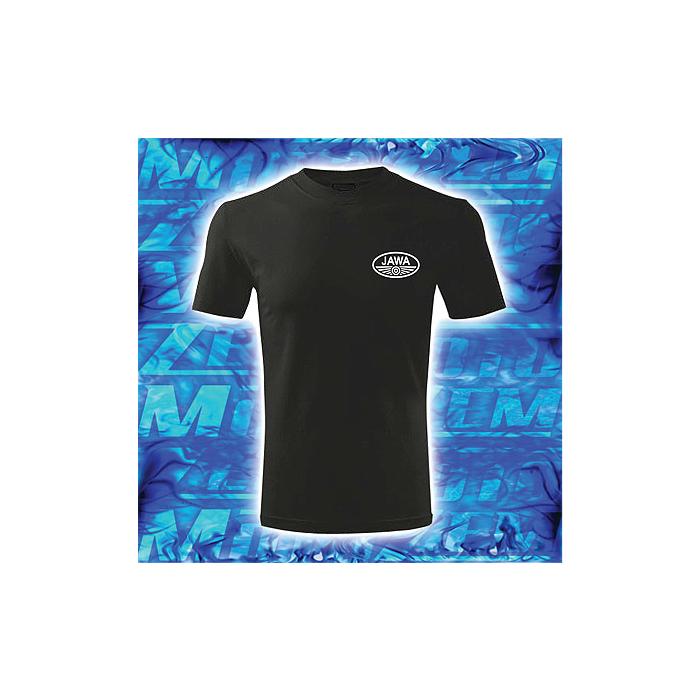 Tričko motív Jawa čierne