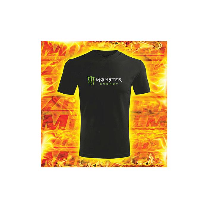 Tričko s motívom Monster energy čierne