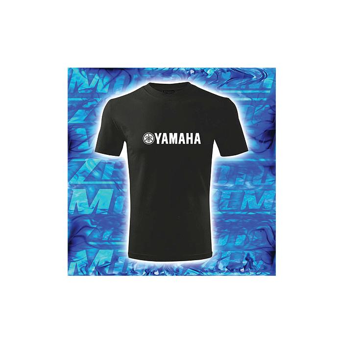 Tričko s motívom Yamaha čierne