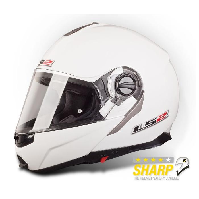 Vyklápěcí přilba na motorku LS2 Ride bílá