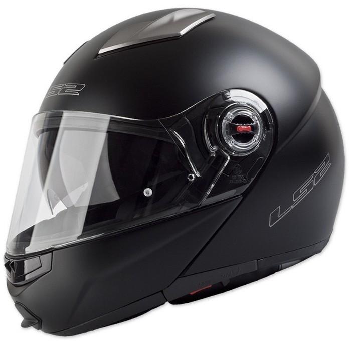 Vyklápací prilba na motorku LS2 EASY čierna matná vypredaj výpredaj