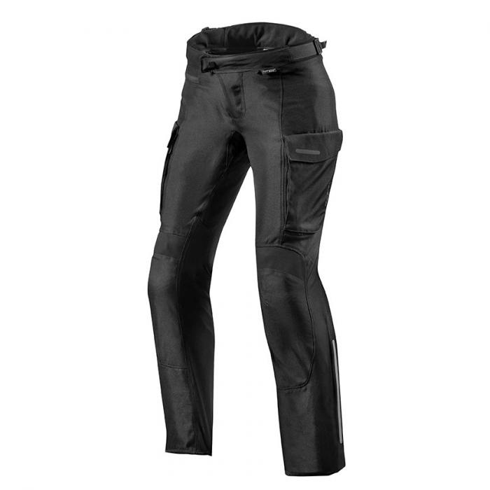 Dámske nohavice na motorku Revit Outback 3 čierne predĺženej