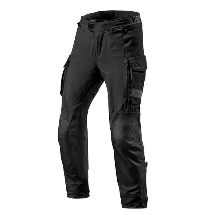 Nohavice na Motoki Revit Offtrack čierne skrátené