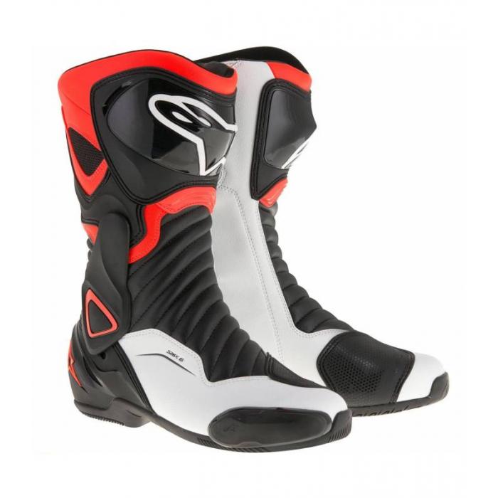 Čižmy na motocykel Alpinestars S-MX 6 čierno-bielo-červené