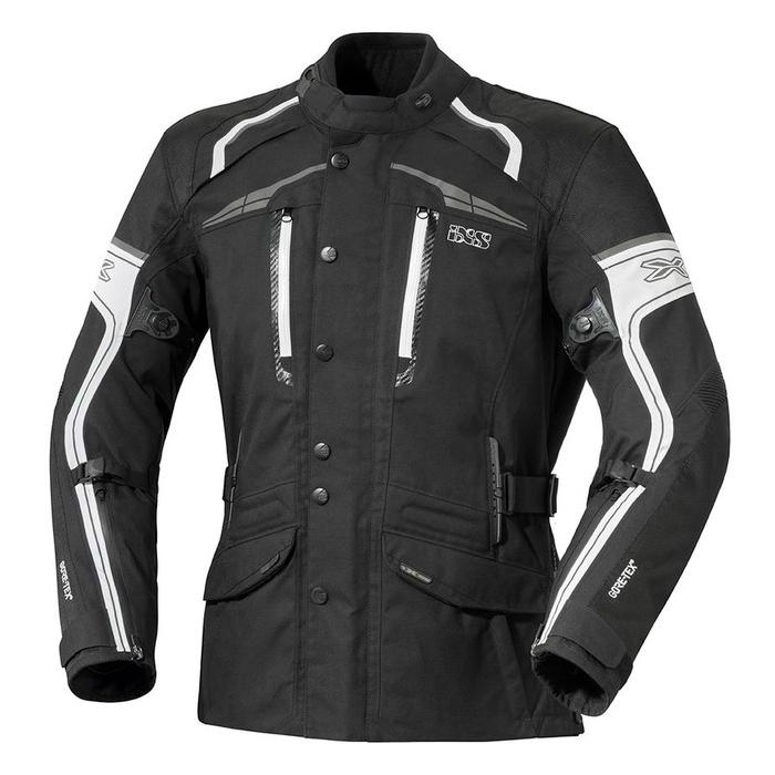 Bunda na motocykel iXS Montgomery čierno-biela