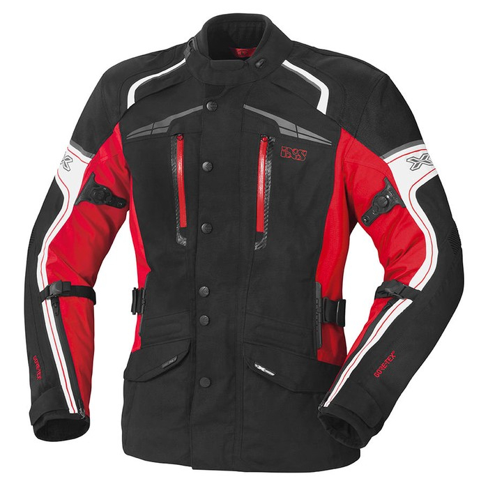 Bunda na motocykel iXS Montgomery čierno-bielo-červená