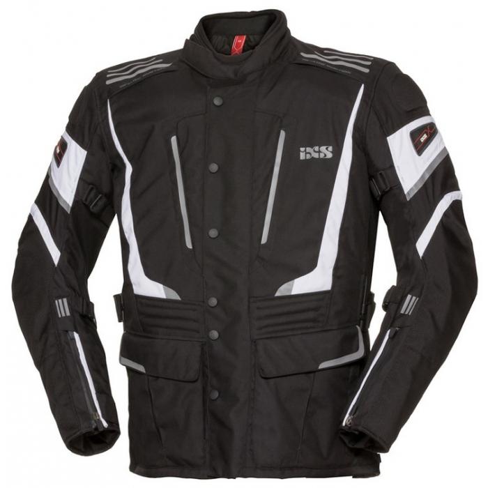 Bunda na motocykel iXS Powells čierno-biela