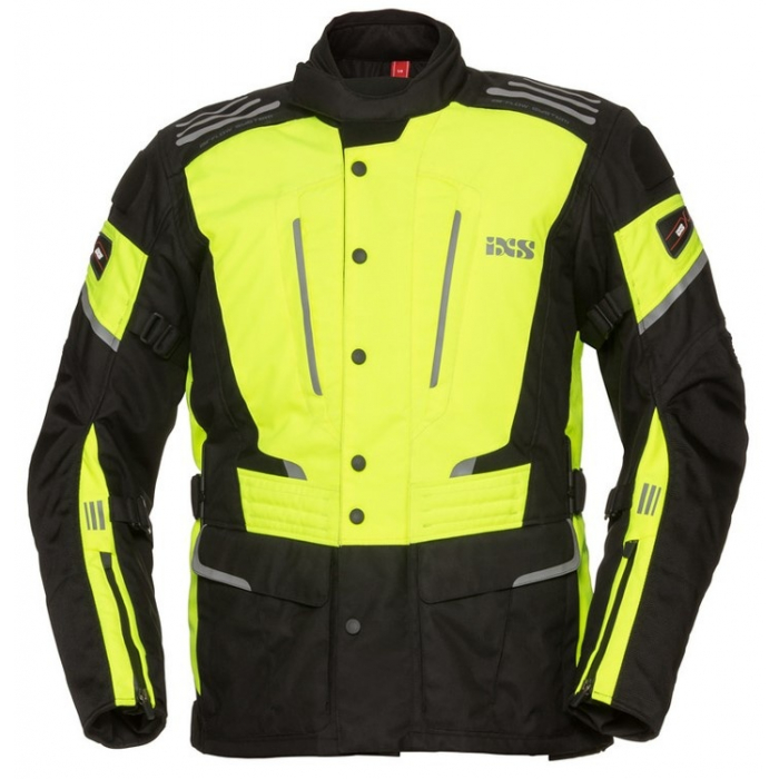Bunda na motocykel iXS Powells fluo-žlto čierna