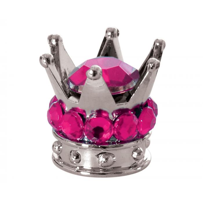Čiapočky na ventilky Oxford Crown strieborno-ružové