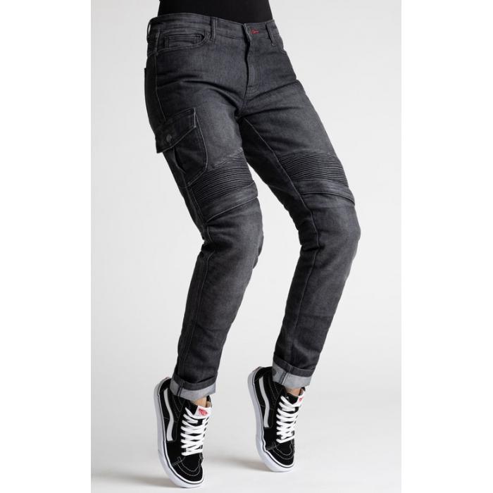 Dámske jeansy na motocykel BROGER Ohio čierne výpredaj