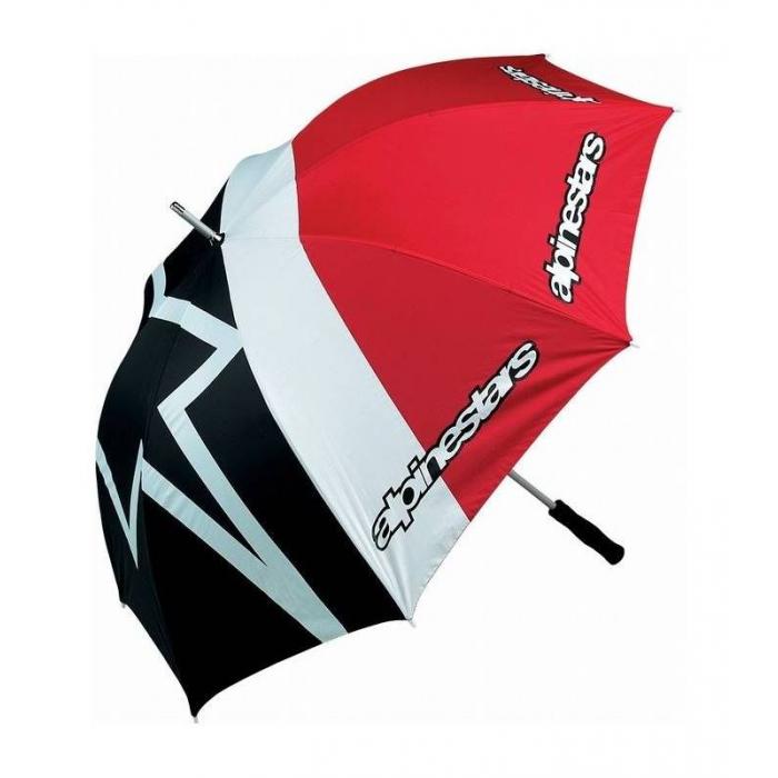 Dáždnik Alpinestars červeno-čierno-biely