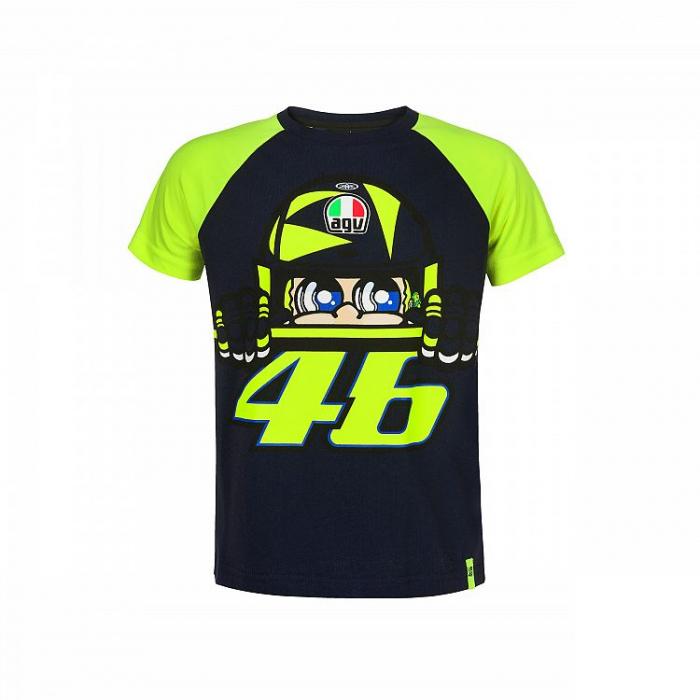 Detské tričko VR46 Valentino Rossi CUPOLINO žlto-modré