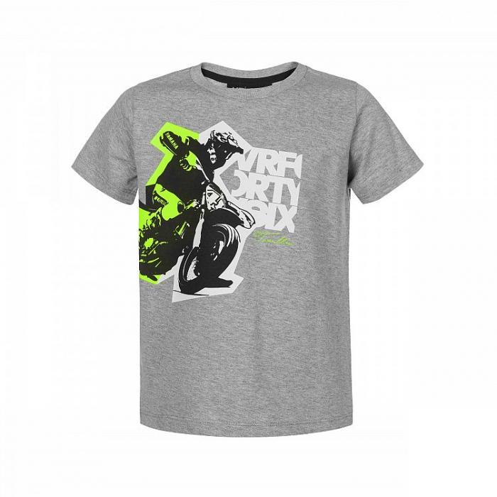 Detské tričko VR46 Valentino Rossi šedej