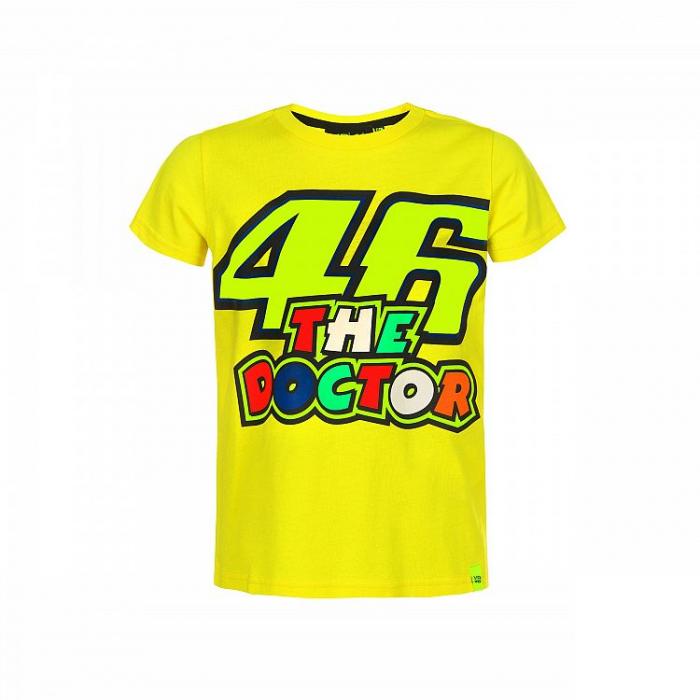 Detské tričko VR46 Valentino Rossi THE DOCTOR žlté
