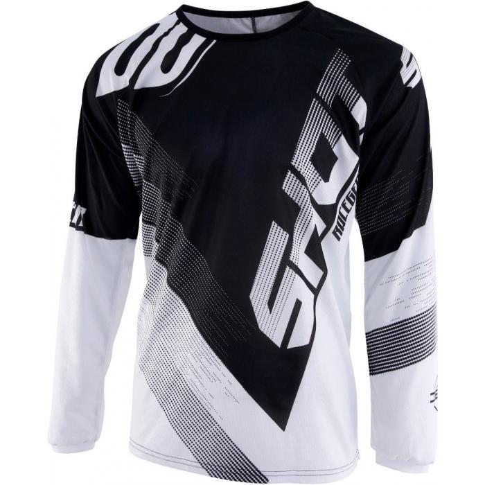Detský motokrosový dres Shot DEVO Ultimate čierno-biely výpredaj