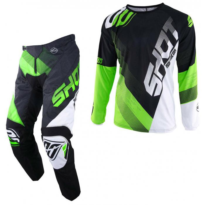 Komplet (dres + kalhoty) Shot DEVO Ultimate černo-fluo zelený (KOPIE)