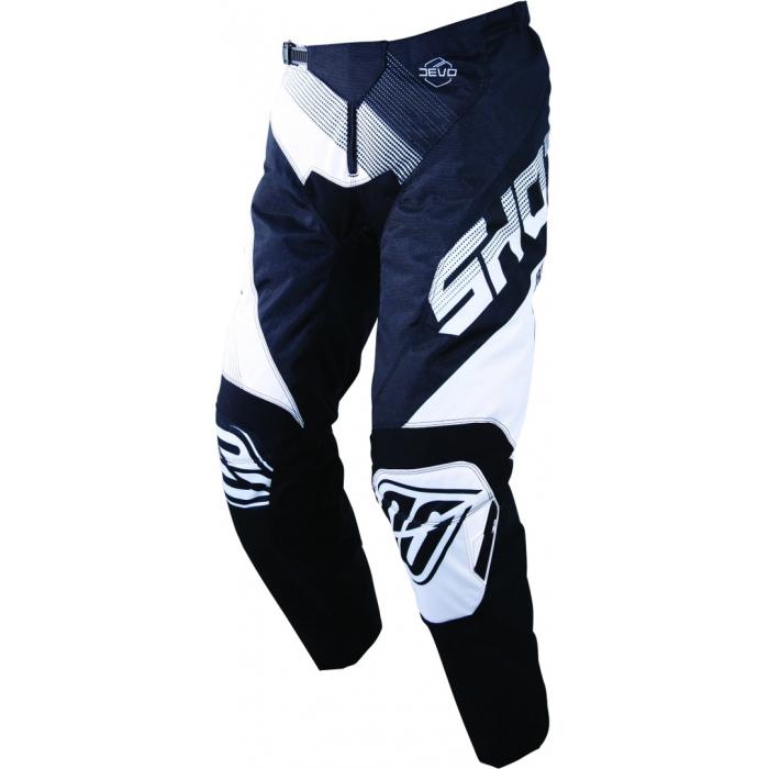 Motokrosové nohavice Shot DEVO Ultimate čierno-biele výpredaj