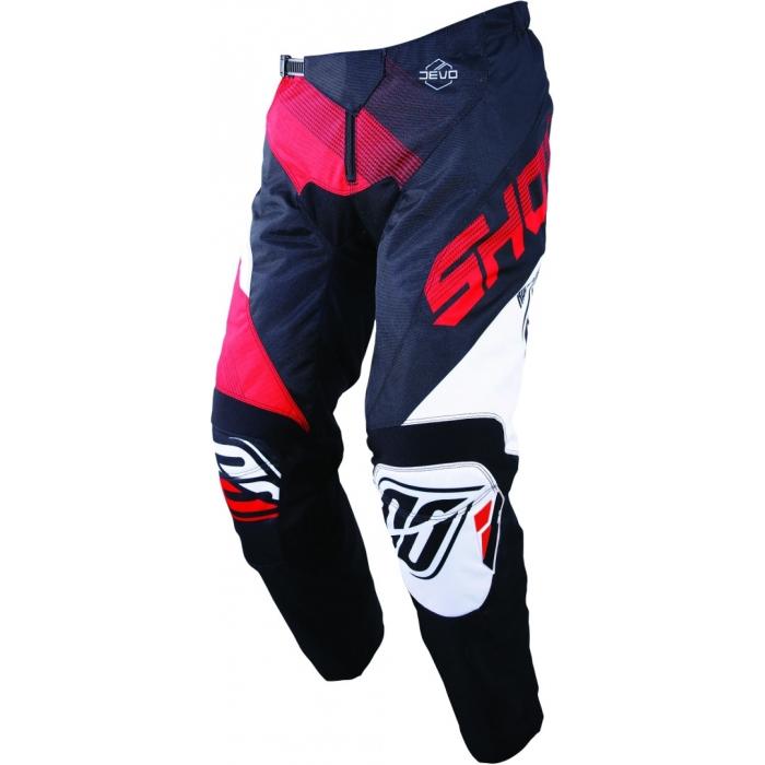 Motokrosové nohavice Shot DEVO Ultimate čierno-červené výpredaj