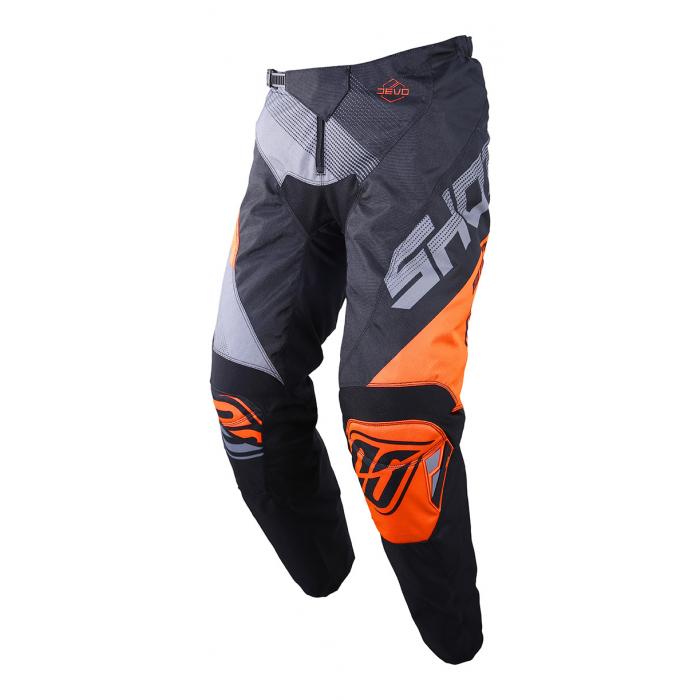Motokrosové nohavice Shot DEVO Ultimate čierno-fluo oranžové výpredaj