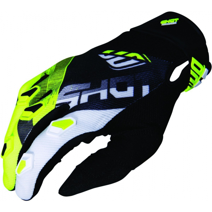 Motocrossové rukavice Shot DEVO Ultimate čierno-fluo žlté