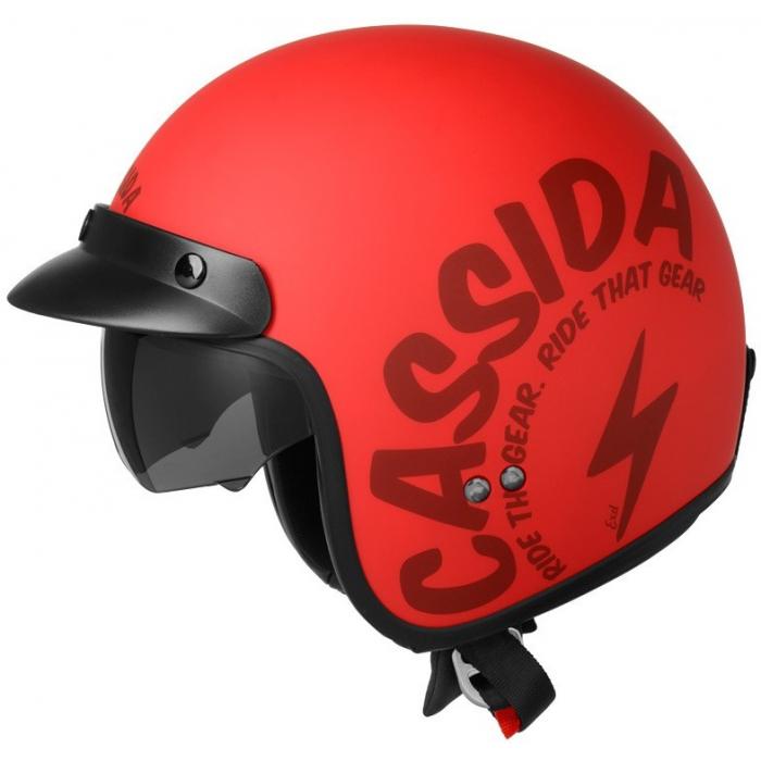 Otvorená prilba na motocykel Cassida Oxygen Gear červeno-čierna