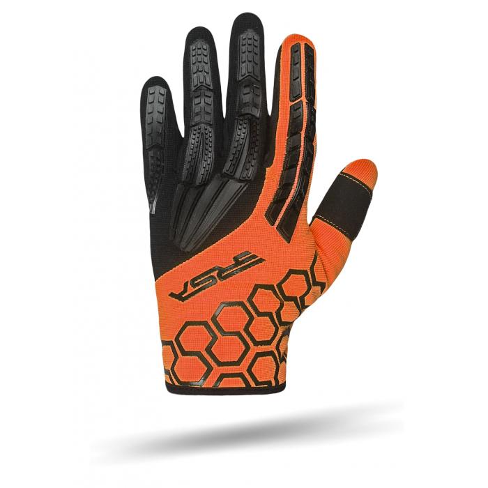 Rukavice na motocykel RSA MX EVO čierno-oranžové