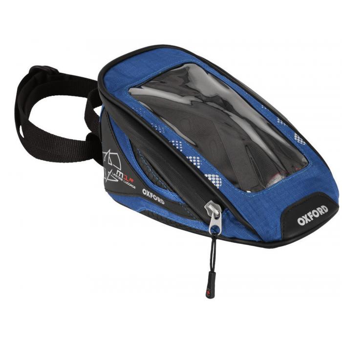Tankbag na motocykel Oxford M1R Micro čierno-modrý