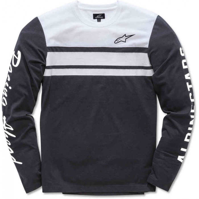 Tričko Alpinestars 2 Stroke Knit čierno-biele